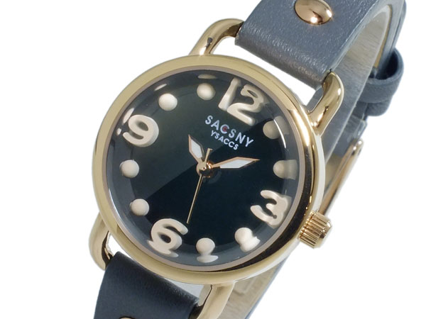 サクスニーイザック SACSNY YSACCS クオーツ レディース 腕時計 時計 SYA-15110-BKGY:リコメン堂ファッション館