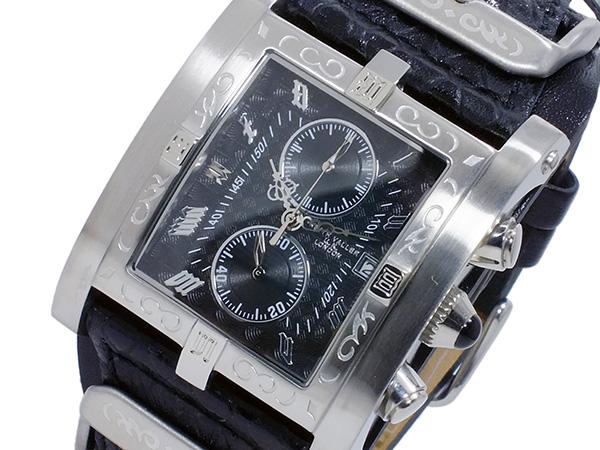 キース バリー KEITH VALLER クオーツ クロノ メンズ 腕時計 PSC-BK ブラック