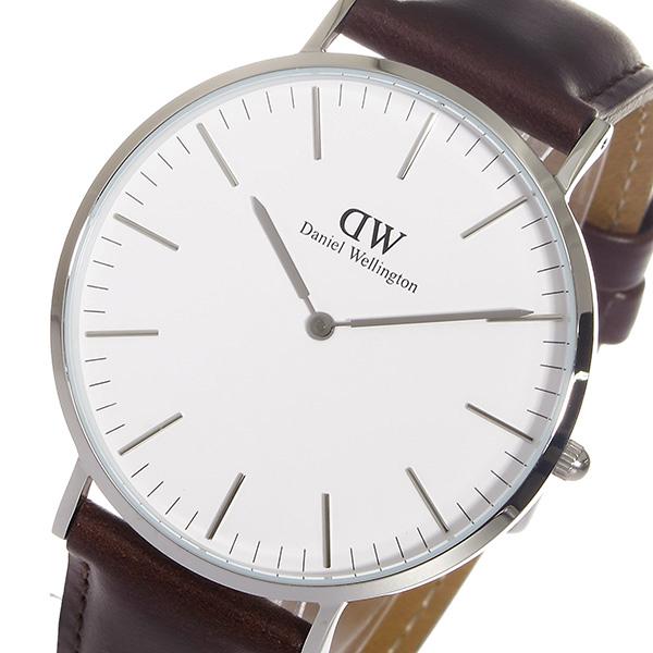 ダニエル ウェリントン ブリストル/シルバー 40mm クオーツ 腕時計 0209DW【送料無料】
