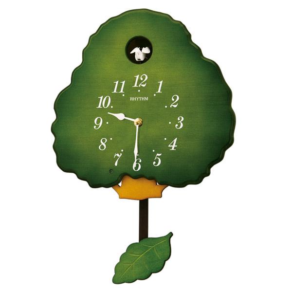 リズム RHYTHM 鳩時計 グレースカッコー413R 4MJ413RH05 緑半艶仕上
