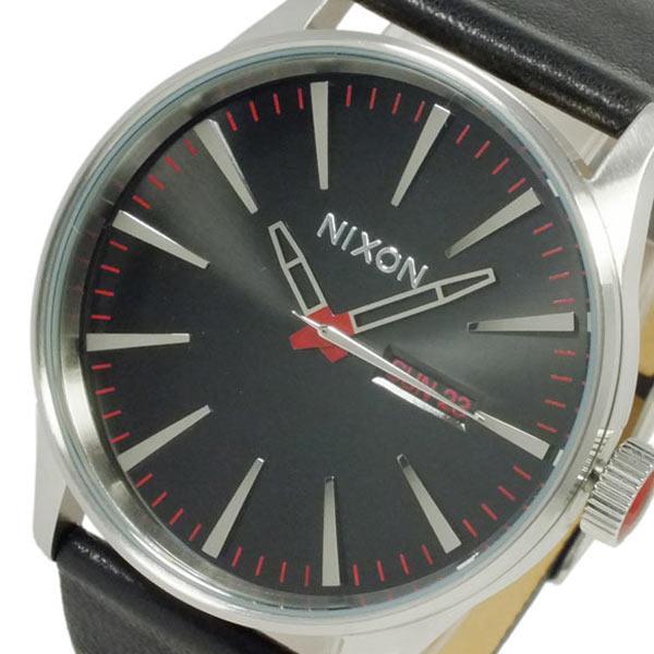 ニクソン NIXON セントリー レザー クオーツ メンズ 腕時計 A105-000 ブラック【送料無料】