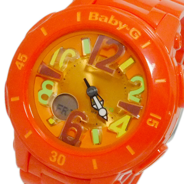 カシオ CASIO ベイビーG デジアナ レディース 腕時計 BGA-171-4B2 オレンジ