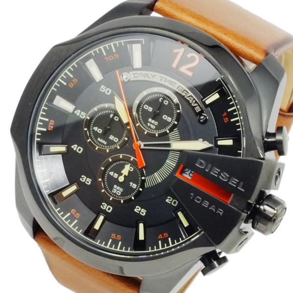 ディーゼル DIESEL メガチーフ メンズ クオーツ クロノ 腕時計 DZ4343 ブラック【送料無料】