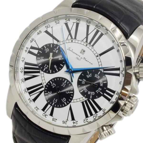 サルバトーレ マーラ クオーツ メンズ 腕時計 SM15103-SSWH ホワイト