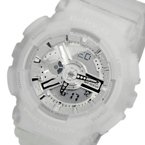 カシオ ベビーG デジタル レディース 腕時計 BA-110-7A2DR スケルトンホワイト【送料無料】