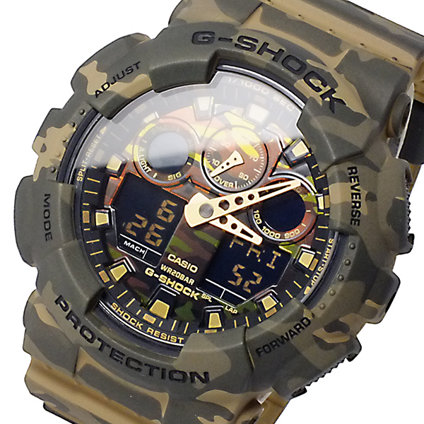 国際ブランド 再再販 送料無料 ラッピング無料 カシオ CASIO Gショック アナデジ GA-100CM-5A 腕時計 メンズ