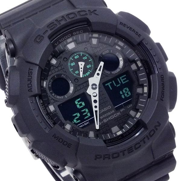 カシオ CASIO Gショック ミリタリーブラックシリーズ メンズ 腕時計 GA-100MB-1A【送料無料】