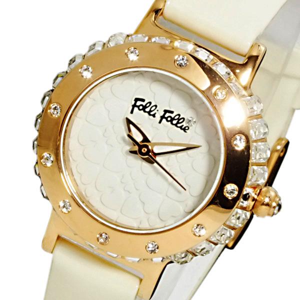 フォリフォリ FOLLI FOLLIE フォーハート レディース 腕時計 WF13B067SPW-WH【送料無料】