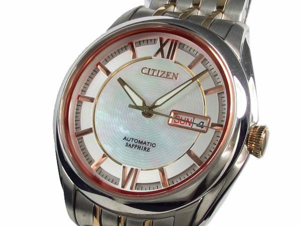 注目 シチズン CITIZEN 腕時計 自動巻き 日本製 メンズ NH8348-51A【送料無料】, 丹波山村 adbedeea