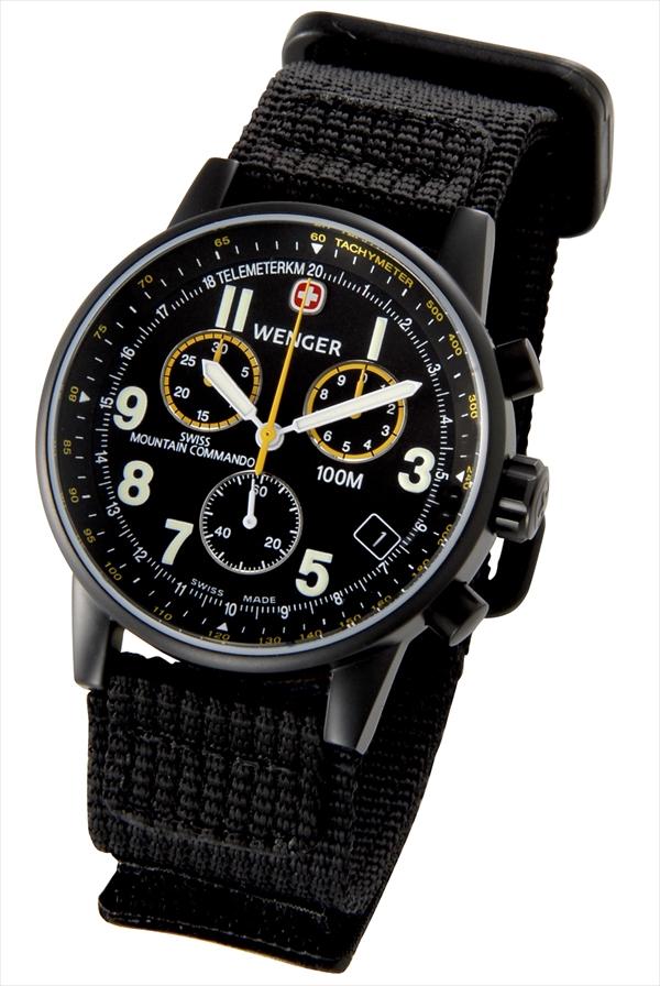 WENGER Wenger手錶70724XL瑞士山命令黑把手框人軍事戶外