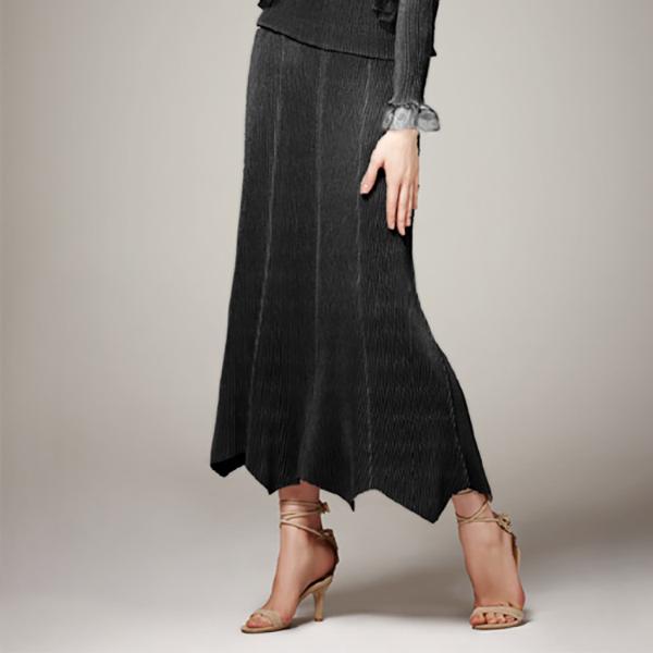 SPECCHIO スペッチオ シャトルプリーツ 変形ヘムラインスカート[8枚剥ぎプリーツ]【送料無料】