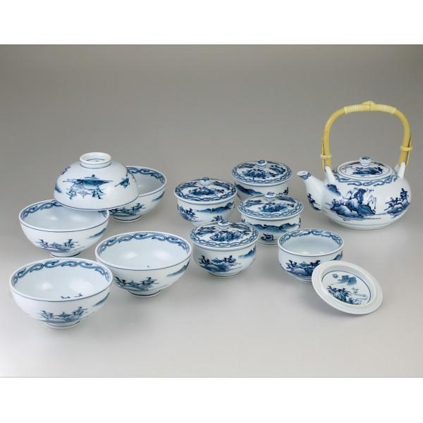 田代亮秀 古代山水 ホームセット 和陶器 和陶バラエティー ホームセット NN-230(代引不可)【送料無料】