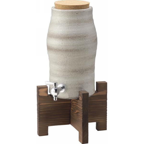 信楽焼 焼酎サーバー 白モダン 和陶器 和陶バラエティー 和酒器セット G5‐3305(代引不可)【送料無料】