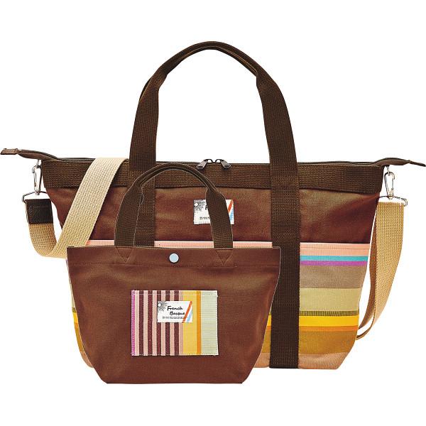フレンチバスク トートバッグセット ブラウン フレンチバスク カバン バッグカジュアル BSQ85200-B(代引不可)【送料無料】