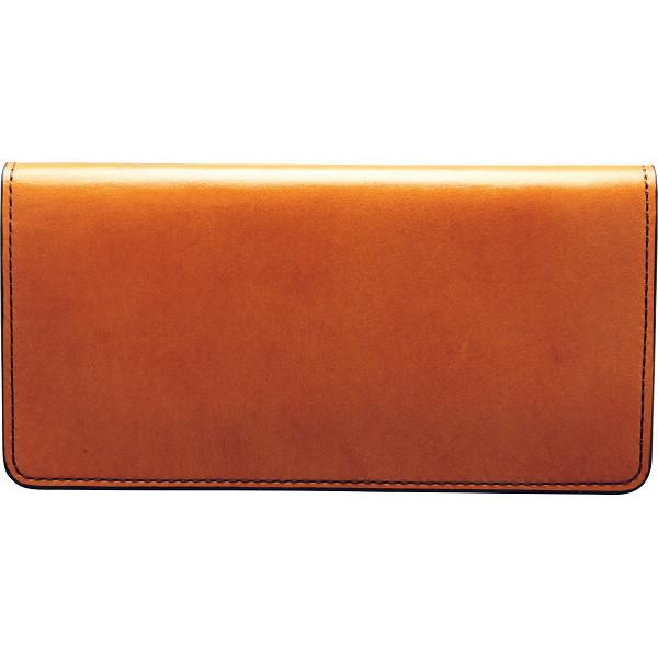 手塗りオイルレザー 切れ目仕立て 長財布 ブラウン 装身具 財布 札束入れ TA44-06(代引不可)【送料無料】