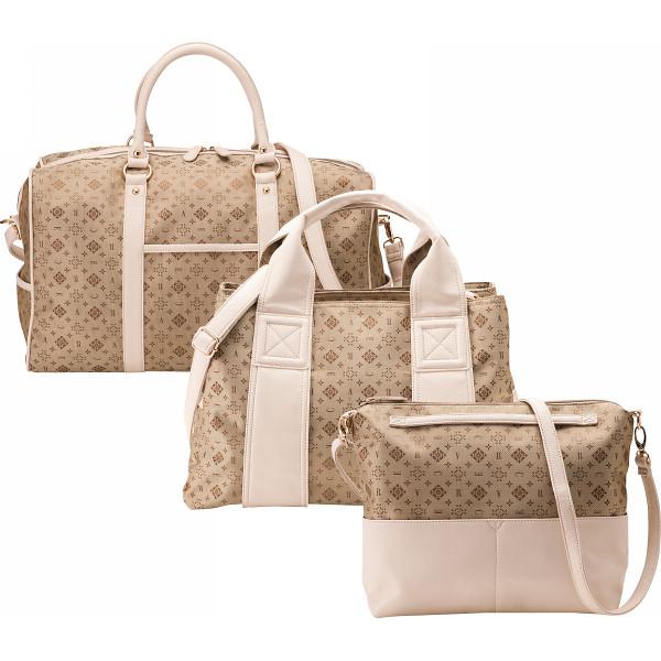 クレアトラベラー トラベルバッグ3点セット ゴールド アパレル 婦人小物 バッグ CR25150-G(代引不可)【送料無料】
