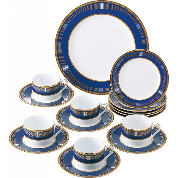 ヴィギンブルー パーティ コーヒー碗皿セット 洋陶器 洋陶バラエティー ホームセット SYA‐046(代引不可)【送料無料】