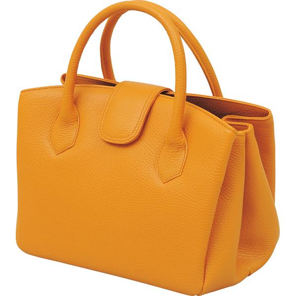 日本製牛革ジャバラ式手提げバッグ キャメル 良品工房 カバン バッグカジュアル 婦人ボストン B17-105CA(代引不可)【送料無料】