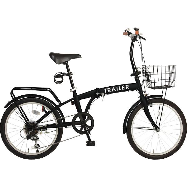 20型折りたたみ自転車(キャリア付) ブラック レジャー 自転車 自動車用品 折りたたみ自転車 GF-F20-BK(代引不可)【送料無料】