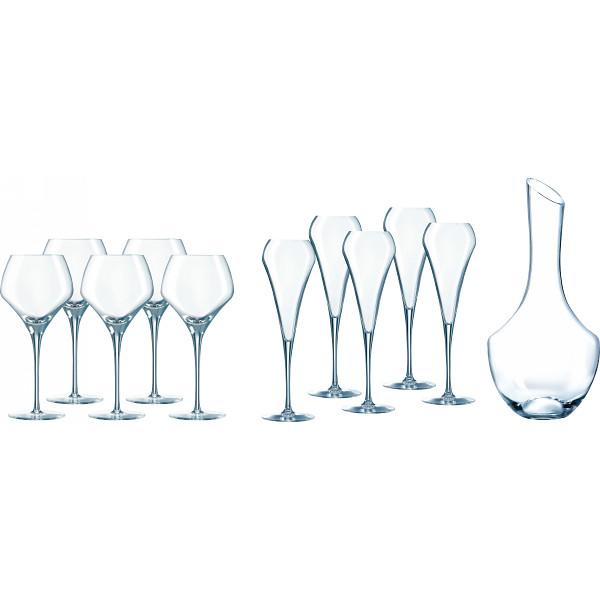 シェフ ソムリエ オープンナップ 5人用パーティセット オープンナップ ガラス製品 ガラスカップ ワインセット CS030(代引不可)【送料無料】
