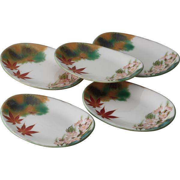 清水焼 雲錦 銘々皿5枚揃 和陶器 和陶皿 小皿セット T90‐023(代引不可)【送料無料】