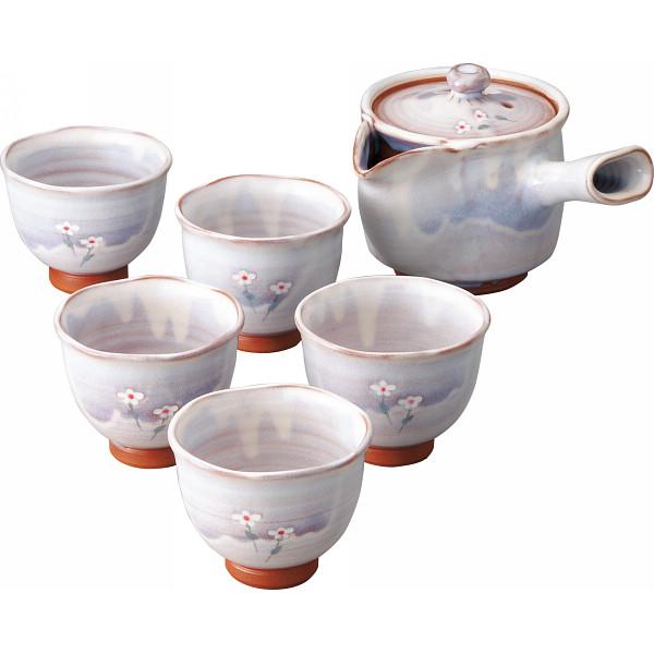萩焼 松尾邑華作 梅鉢草 茶器揃 和陶器 和陶茶器 急須茶器 邑華‐11(代引不可)【送料無料】
