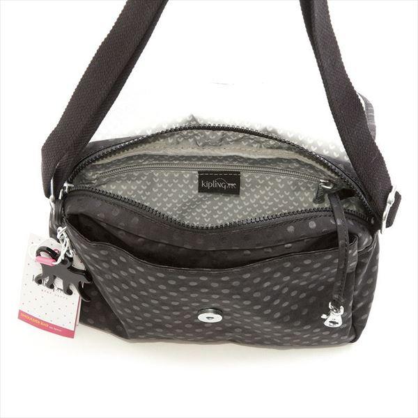 CAYLEEN Black Dot Emb B5 size shoulder bag, Kipling Kipling K12452 C71