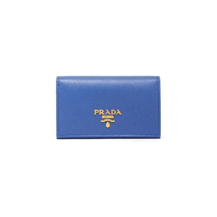 PRADA CARD HOLDER カードホルダー 1MC122QWA レディース AZZURRO F0013 ブルー プラダ【送料無料】