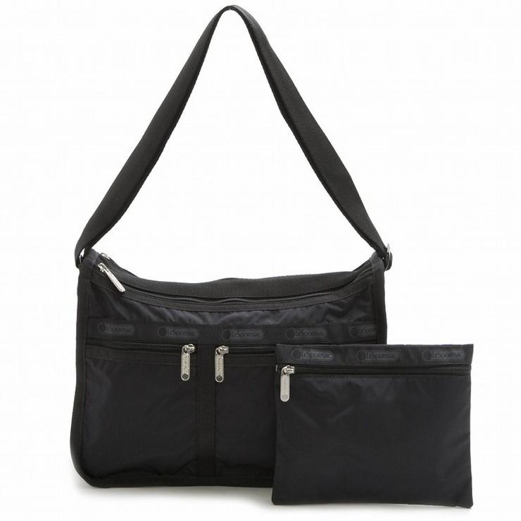 送料無料 LeSportsac 超激安 7507-5982 ショルダーバッグ Deluxe Bag デラックスエブリデイバッグ Black 新品 送料無料 Everyday レスポートサック