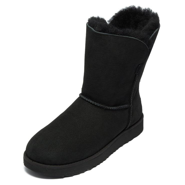 UGG ブーツ CLASSIC CUFF SHORT 1016418 レディース BLACK BLK アグ【送料無料】