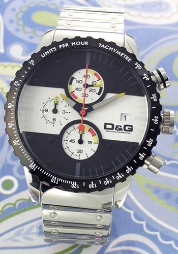 ディーアンドジー D&G 腕時計 Rugby(ラグビー) クロノグラフ ブレスウオッチ DW0374