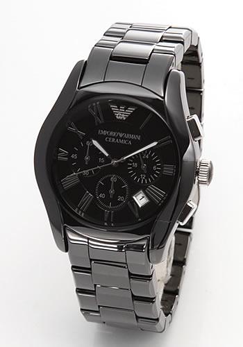 エンポリオアルマーニ EMPORIO ARMANI メンズ 腕時計 クロノグラフ セラミックブレス AR1400【送料無料】
