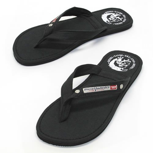 01d143fdd Diesel AQUALIFE Seaside men s cotton Sandals flip flops black «2014 SS»  00Y753 PR012 T8013 Black P13Dec14