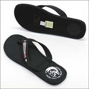 柴油AQUALIFE Seaside人棉布涼鞋Beach sandal黑色≪2014SS≫00Y753 PR012 T8013 Black