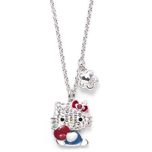 210bf4115 Swarovski Hello Kitty Red Apple Hello Kitty Crystal pointiage pendant  necklace 5075268 ...