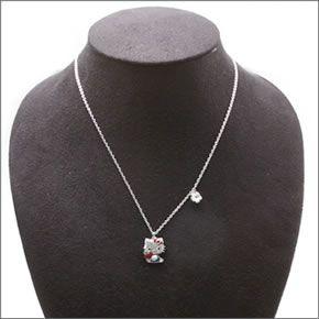 c2945616e ... Swarovski Hello Kitty Red Apple Hello Kitty Crystal pointiage pendant  necklace 5075268 ...