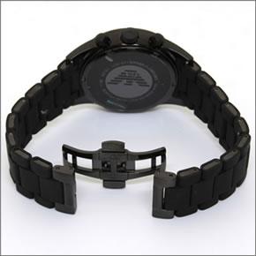 emporio·阿瑪尼簡單,并且時尚。全部黑色彩色受歡迎系統橡膠吊帶·計時儀·表AR5921