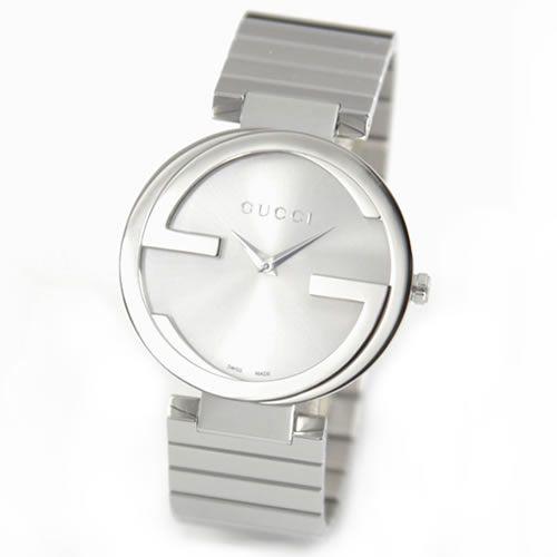 10e8617ae07 Gucci interlocking collection GG mark face s impressive unisex size dress watch  YA133308