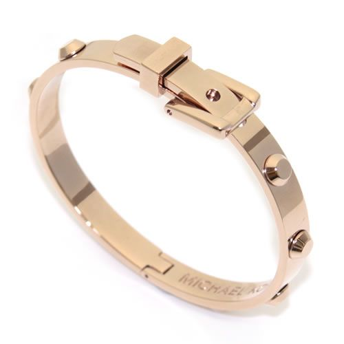 7f7c3e6836d5 Michael Kors Astor Rose Gold-Tone Buckle Bangle belt brass studded buckle  bracelet   Bangle MKJ1821791