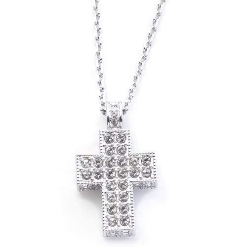 cda856aa9c Swarovski Cross Mini Pendant cross Crystal pave pendant necklace 5020060 ...