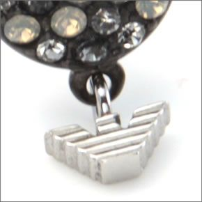 Emporio Armani EGS1968040 Eagle motif rhinestone earrings stainless steel