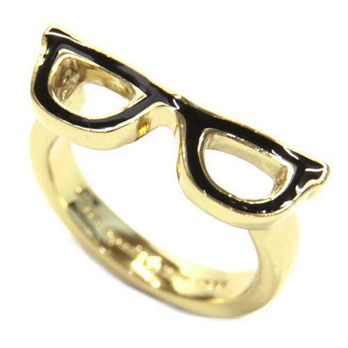 凱特黑桃WBRU5715-064/7 GORESKI GLASSES Ring眼鏡動機環戒指尺寸7(日本尺寸13.5號)