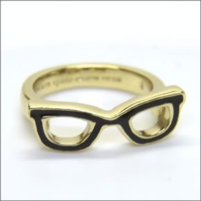 Kate spade WBRU5715-064/7 GORESKI GLASSES Ring glasses motif ring ring size 7 (Japanese size 13.5)