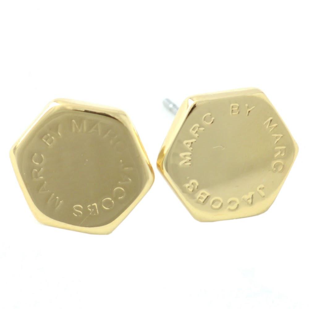 Marc By Jacobs M3pe565 711 80096 Oro Bolt Studs Motif Logo Stud Earrings