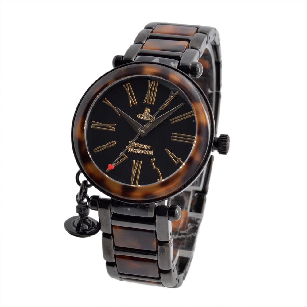 ヴィヴィアンウエストウッド Vivienne Westwood VV006BKBR レディース オーブチャーム 腕時計【送料無料】