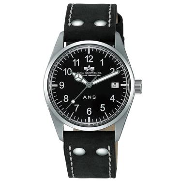 Aeronautic AERONAUTICS ALPHA by wristwatch type army 6,550 NB-LEATHER men's