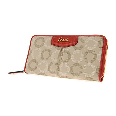 COACH教练F48051 BKHCY长纸币(附带拉链)女子的长钱包