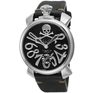 GAGA ガガ ミラノ 爆買い新作 MANUALE48mm ART COLLECTION 送料無料 メンズ 即納最大半額 5010ART02S-BLK 腕時計