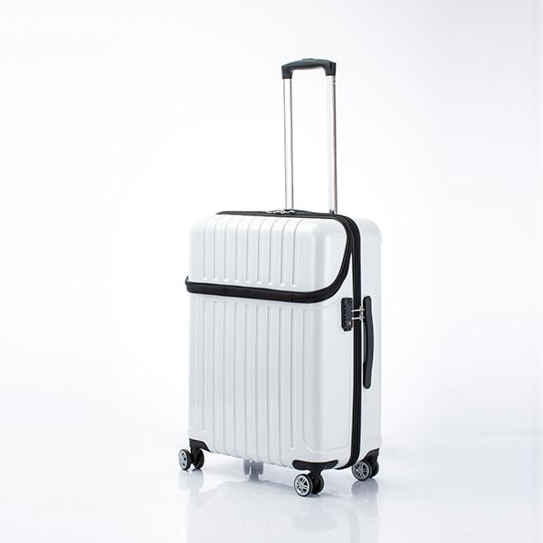 キャリーバッグ Mサイズ 5日間 59L トップオープン ジッパーハード トップス スーツケース 旅行 カバン 大容量(代引不可)【送料無料】【int_d11】