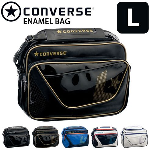 67dfd03dea Converse (CONVERSE) sports bag enamel bag attending school bag shoulder bag    enamel shoulder large size C1503052